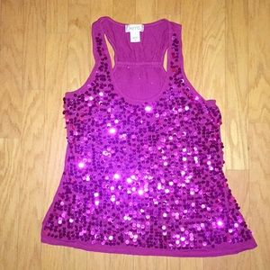 Sequin tank top.